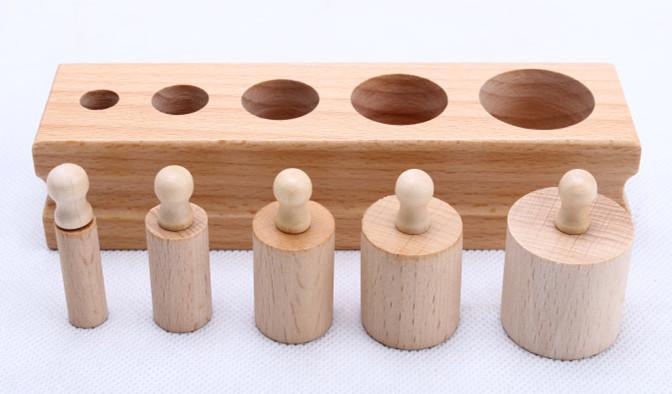 Brinquedos-do-beb-2-em-1-tomada-conjunto-de-cilindro-Montessori-fam-lia-rosa-torre-de